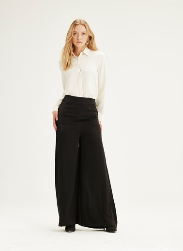 Mizalle Yüksek Bel Pantolon Siyah